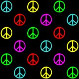 Peace symbol pattern background Royalty Free Stock Images
