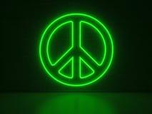 Peace Symbol - Series Neon Signs Stock Photo