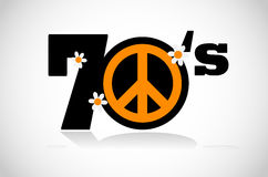 Peace symbol seventies Royalty Free Stock Photo