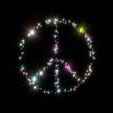 Peace symbol stars Stock Image