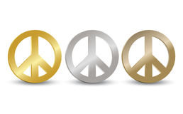Peace Symbol Tag Set Royalty Free Stock Image