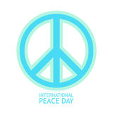 Peace Symbol vector Icon in light colors for poster Stock Image