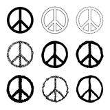 Peace symbol vector set Royalty Free Stock Photos
