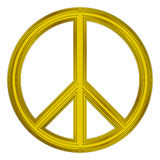 Peace symbol. On white background royalty free illustration