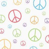 Peace symbol on white background Royalty Free Stock Photography
