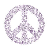 Peace symbol on white background Stock Photo