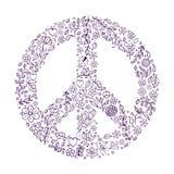 Peace symbol on white background Stock Photo