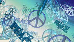 Peace symbols in blue stock footage