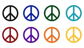 Peace symbols - cdr format Royalty Free Stock Photo