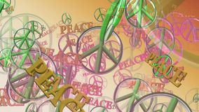 Peace symbols in green stock footage