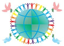 Peace symbols illustration Royalty Free Stock Photography