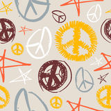Peace Symbols seamless background Stock Images