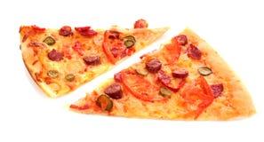 Peace of Tasty Italian pizza Stock Photo