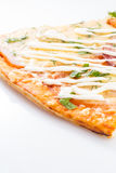 Peace of tasty pizza isolated Royalty Free Stock Photo