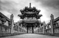 Peace Temple, Taiwan. Low perspective shot of the Peace temple in Taiwanese Park Royalty Free Stock Photography