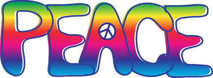 PEACE text Stock Image