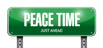 peace time street sign illustration design Royalty Free Stock Photography