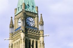 Peace Tower. The Centre Block, Parliament Hill, Ottawa, Canada Royalty Free Stock Photography
