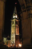Peace Tower. Of Parliament hill in Ottawa, Canada. Winter night Stock Image
