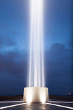 Peace tower. Light beam of the peace tower in Reykjavik, Iceland Royalty Free Stock Image