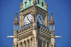 Peace Tower of the Canadian Parliament. Building on Parliament Hill in Ottawa Royalty Free Stock Image