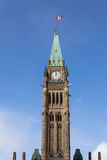 Peace Tower of the Canadian Parliament buildings Stock Photo