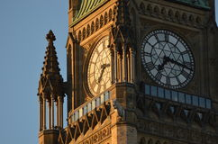 Peace Tower of Canadian Parliament Stock Photography