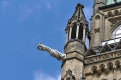 Peace Tower Gargoyle, Ottawa Stock Images