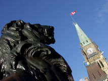 Peace Tower and Lion Royalty Free Stock Photo