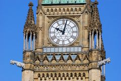 Peace Tower of Parliament Buildings, Ottawa. Peace Tower (officially: the Tower of Victory and Peace) of Parliament Buildings, Ottawa, Ontario, Canada Stock Photos