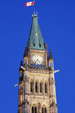 Peace Tower in Ottawa. Amazing peace Tower in Ottawa, Ontario, Canada Royalty Free Stock Images
