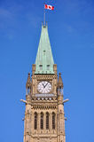 Peace Tower of Parliament Buildings, Ottawa. Peace Tower (officially: the Tower of Victory and Peace) of Parliament Buildings, Ottawa, Ontario, Canada Stock Images