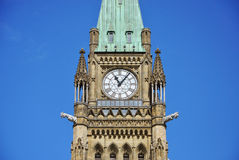 Peace Tower of Parliament Buildings, Ottawa. Peace Tower (officially: the Tower of Victory and Peace) of Parliament Buildings, Ottawa, Ontario, Canada Stock Photo
