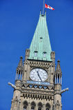 Peace Tower of Parliament Buildings, Ottawa. Peace Tower officially: the Tower of Victory and Peace of Parliament Buildings, Ottawa, Ontario, Canada Stock Photo