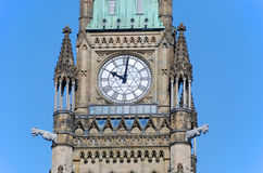 Peace Tower of Parliament Buildings, Ottawa. Peace Tower officially: the Tower of Victory and Peace of Parliament Buildings, Ottawa, Ontario, Canada Royalty Free Stock Images