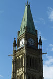 The Peace Tower On Parliament Hill, Ottawa, Ontari Stock Photo