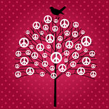Peace tree Royalty Free Stock Image