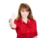 Peace or two sign Stock Photography