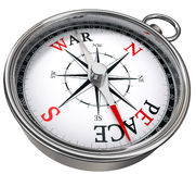 Peace versus war concept compass Royalty Free Stock Photo