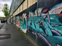 Peace Wall Belfast stock image