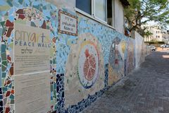 Peace Wall in Tel Aviv stock images