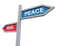Peace or war Royalty Free Stock Photography