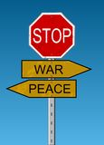 Peace & War Royalty Free Stock Photography