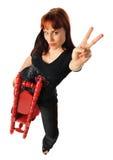 Peace woman Stock Image
