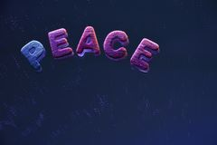 Peace. Words and letters, colourful letters, concept Royalty Free Stock Photos