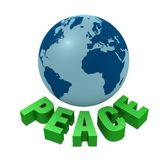 Peace for the world Stock Photography