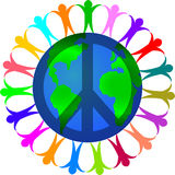 Peace in a World of Diversity Stock Photography