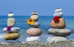 Zen stones and their therapeutic effects Royalty Free Stock Image