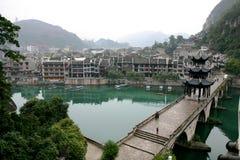Peace-Zhen Yuan ancient city, China. ZhenYuan ancient City, Guizhou, china Stock Photos