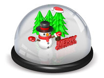 Peaceful 3d christmas snowball Royalty Free Stock Photography
